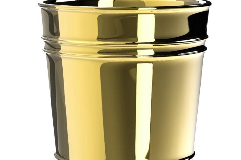 golden pot isolated on white
