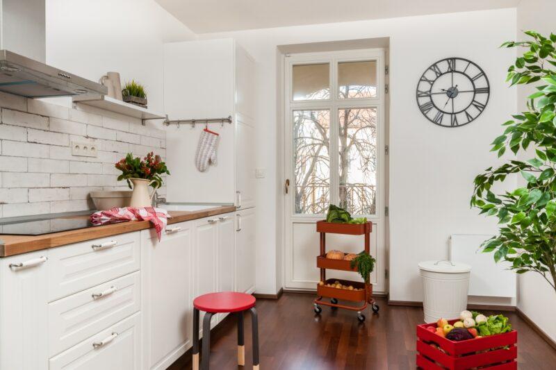 Barevný podzim v rustikální kuchyni