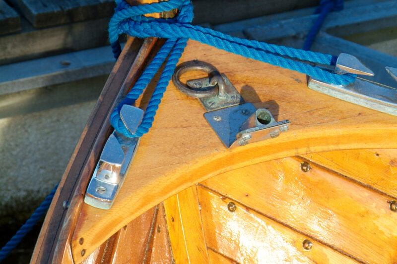 Detail of wooden boat
