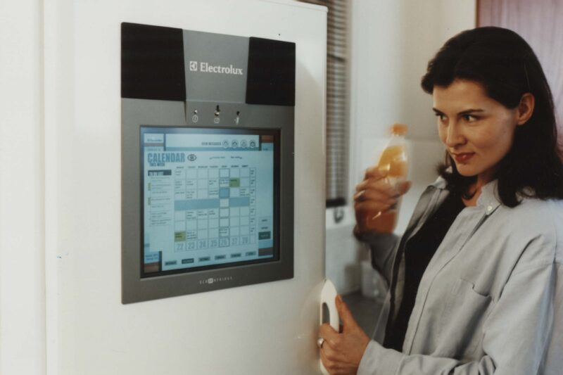The first version of Electrolux Screenfridge.