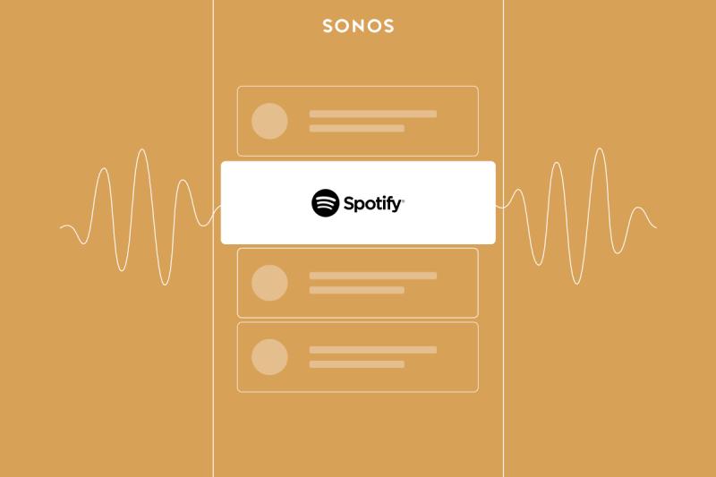 Poslouchejte ode dneška bezplatné Spotify Free na hudebním systému Sonos