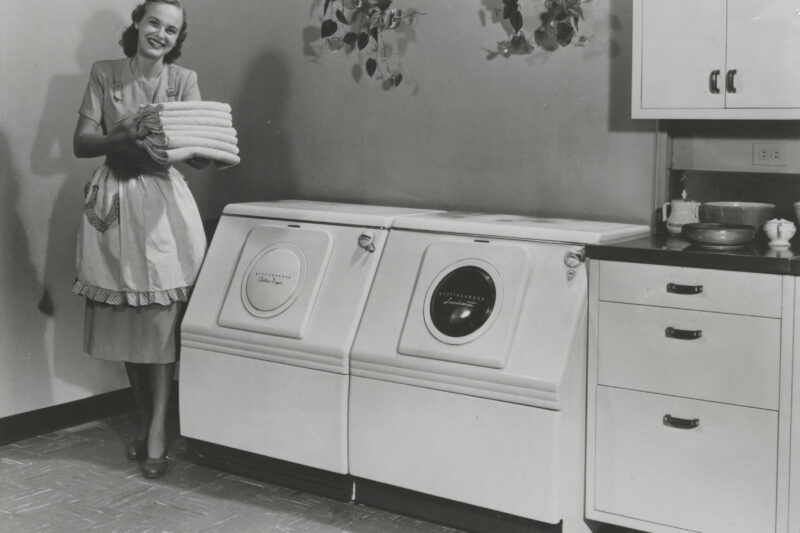 Automatic washing machine and dryer from Westinghouse.
