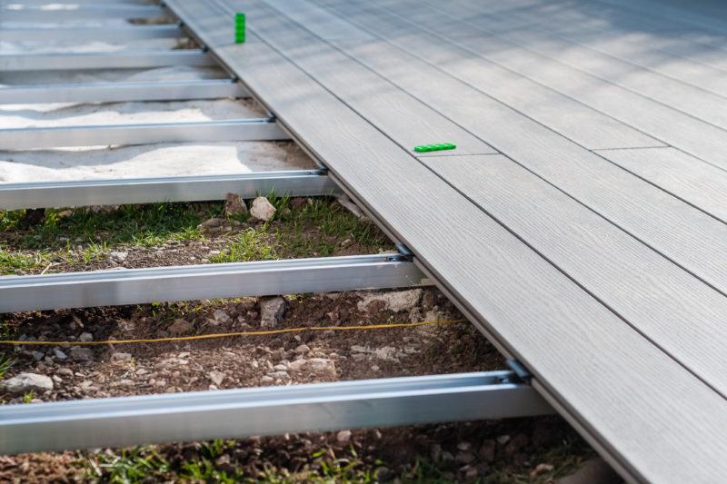 Deceuninck - montáž terasy - Podklad a spodní konstrukce terasy
