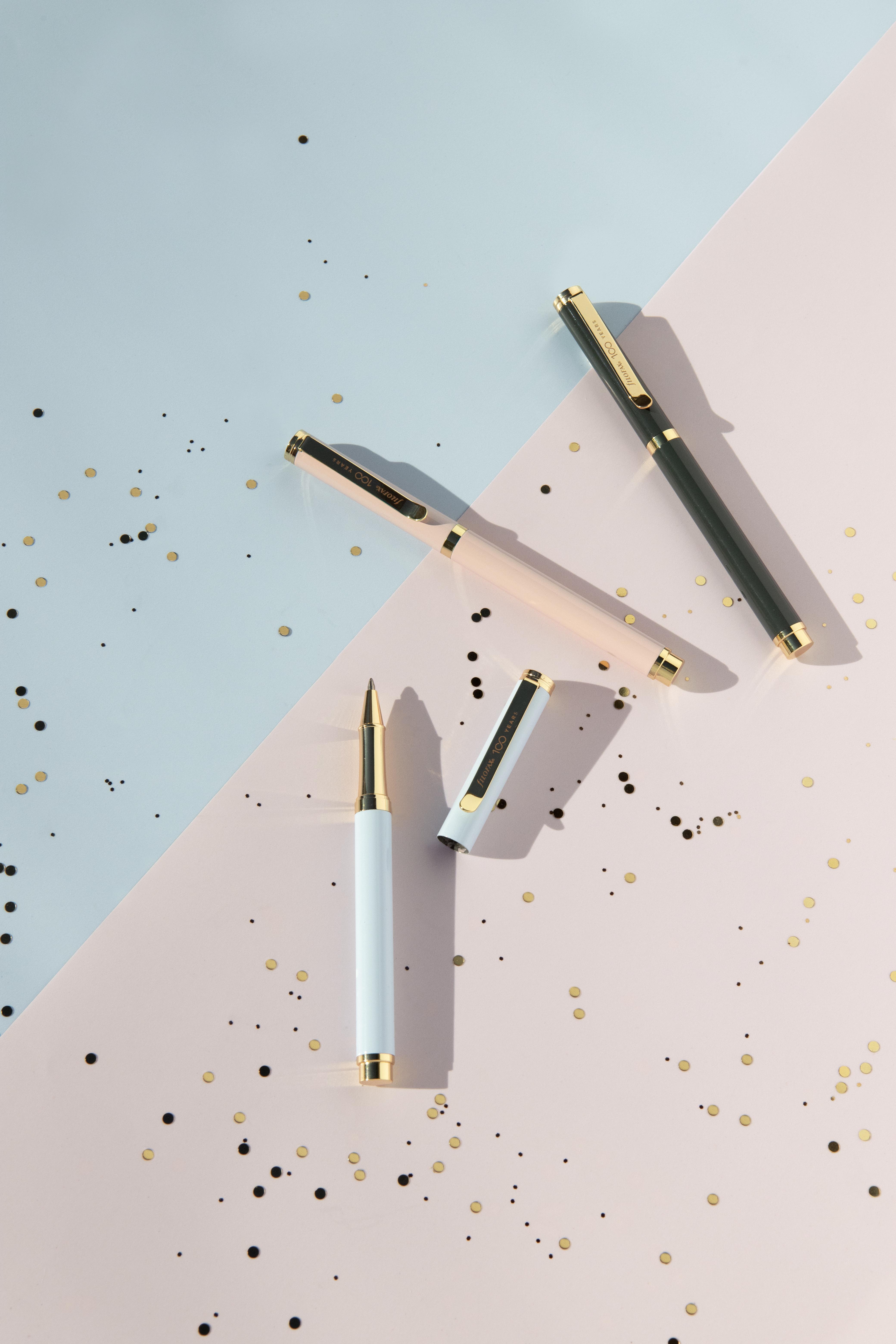 Filofax Centennial Collection - Centennial Roller Ball Pen Blush _SKU 132785_ Sky _SKU 132787_ Charcoal _132786_ Lifestyle Image