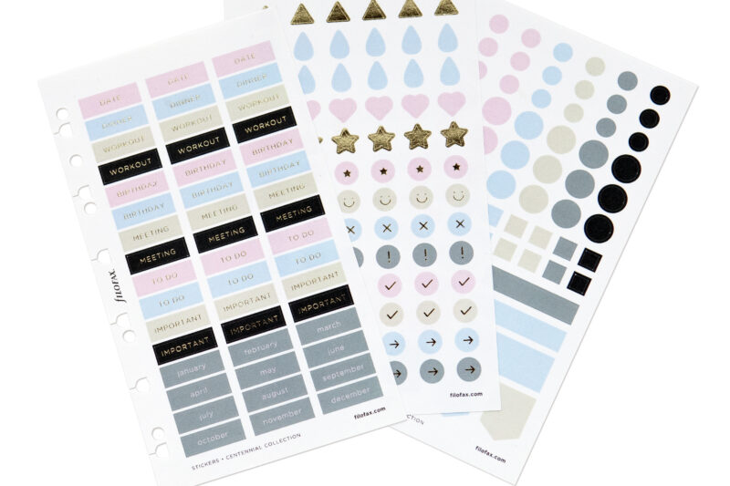Filofax Centennial Collection _ Planning Stickers3